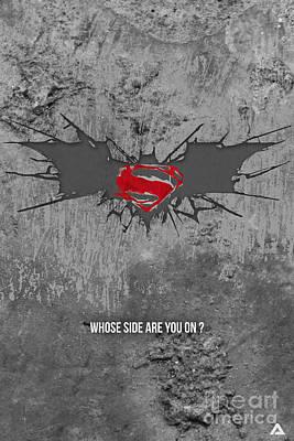 Ben Affleck Digital Art - Batman V Superman by Parikshit Deshmukh