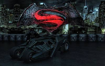 Dark Knight Rises Photograph - Batman Versus Superman by Louis Ferreira