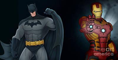 Batman Vs Ironman Original by Manoj Mahanta