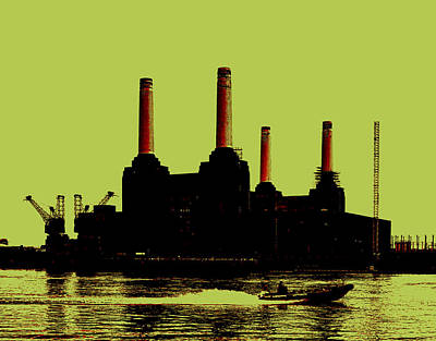 Beatles Digital Art - Battersea Power Station London by Jasna Buncic