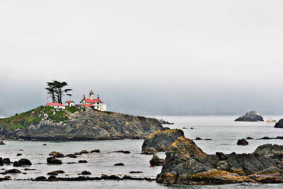 Seascape Photograph - Battery Point Lighthouse California by Christine Till