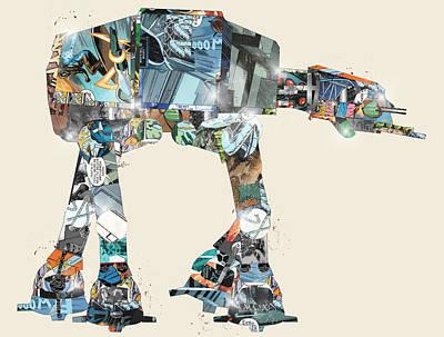 At Poster Digital Art - Battle At At Ready by Bri B