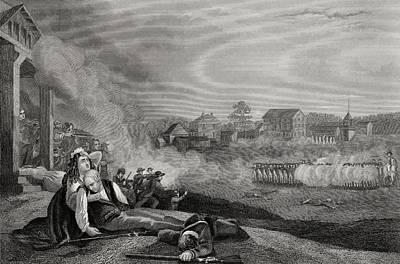 Lexington Drawing - Battle At Lexington And Concorde by Vintage Design Pics