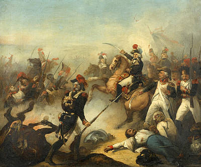 Denis Auguste Marie Raffet Painting - Battle Of Fleurus 26 June 1794 by Denis-Auguste-Marie Raffet