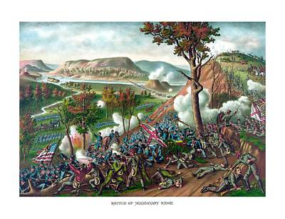 Battle Of Missionary Ridge Print by War Is Hell Store