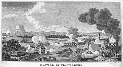 Battle Of Plattsburg, 1814 Print by Granger