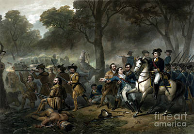 Battle Of The Monongahela, 1755 Print by Science Source