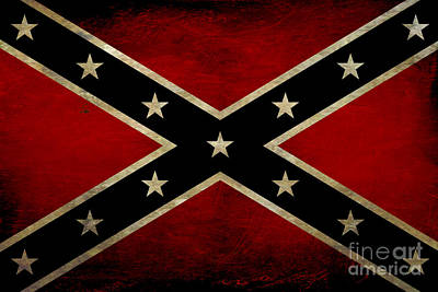 Battle Scarred Confederate Flag Print by Randy Steele