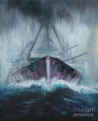 World War One Painting - Battlecruiser Derfflinger  1918 by Vincent Alexander Booth