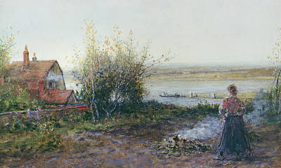 Farm Stand Painting - Bawdsey Ferry by George Henry Boughton