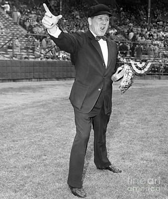 Conlon Photograph - Bawls Umpire Jocko Conlon. 1957 by Barney Stein