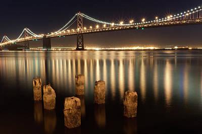 Bay Bridge Photograph - Bay Bridge Reflections by Connie Spinardi