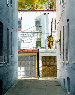 Ridge Painting - Bay Ridge Alley by Tom Hedderich