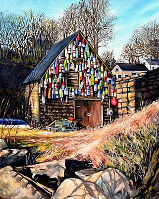 Bay View Fishing Shack Gloucester Ma Original by Eileen Patten Oliver