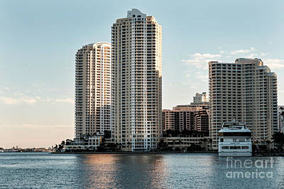 Photograph - Bayfront Park Golden View by Eyzen Medina