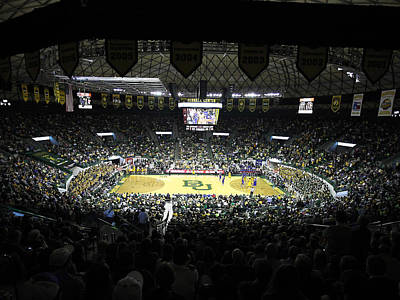 Baylor Bears Sellout Ferrell Center Print by Replay Photos