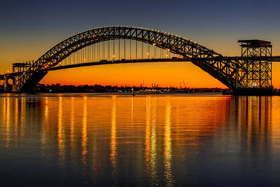 Bayonne Bridge Sunset Print by Susan Candelario
