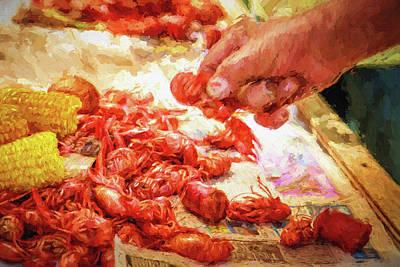Impasto Oil Photograph - Bayou Feast  by Barry Jones