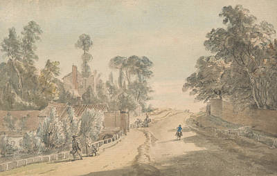 18th Century Painting - Bayswater - London by Paul Sandby