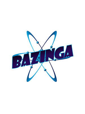Bazinga - Big Bang Theory Print by Bleed Art