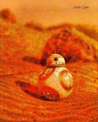 R2d2 Digital Art - Bb-8 In The Desert - Da by Leonardo Digenio