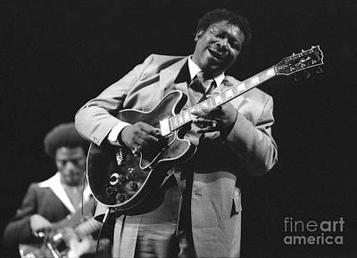 Bb King In Love With Lucille Print by Philippe Taka