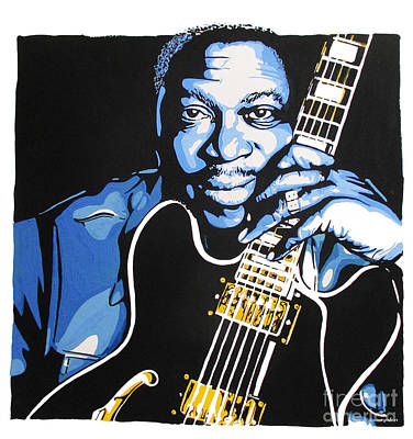 Eric Clapton Mixed Media - Bb King by Nancy Mergybrower