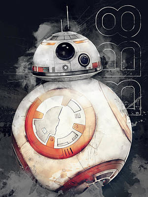 Orange Digital Art - Bb8 by Afterdarkness