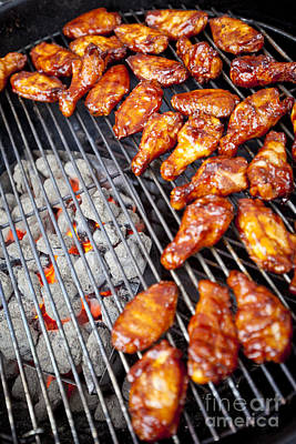 Que Photograph - Bbq Chicken Wings by Stuart Monk