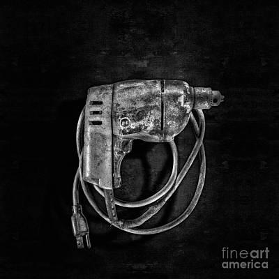 Bits Photograph - Bd Drill Motor Bw by YoPedro