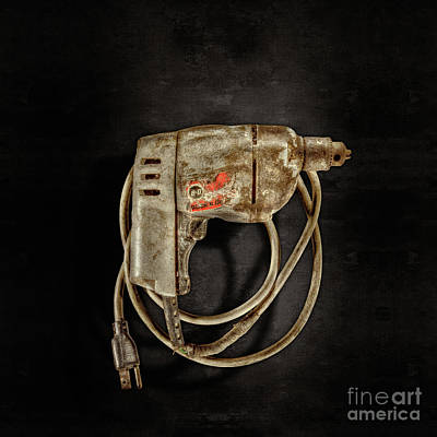Hardware Photograph - Bd Drill Motor On Black by YoPedro