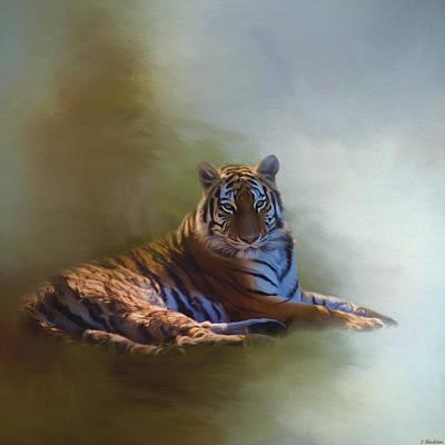 Jordan Painting - Be Calm In Your Heart - Tiger Art by Jordan Blackstone
