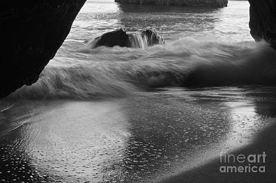 Monochrome Photograph - Be Like Water by Angelo DeVal