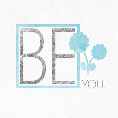 Be You Silver Print by Sabine Jacobs
