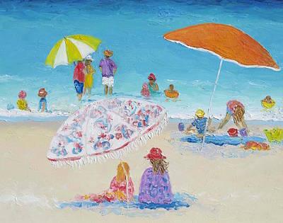 Tropical Art Painting - Beach Art - Beach Vacation by Jan Matson