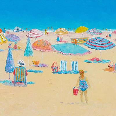 Beach Art - Every Summer Has A Story 2 Print by Jan Matson