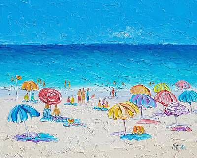 Beach Art - First Day Of Summer Print by Jan Matson