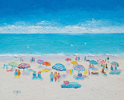 Abstract Beach Art Abstract Beach Painting - Beach Art - Fun In The Sun by Jan Matson