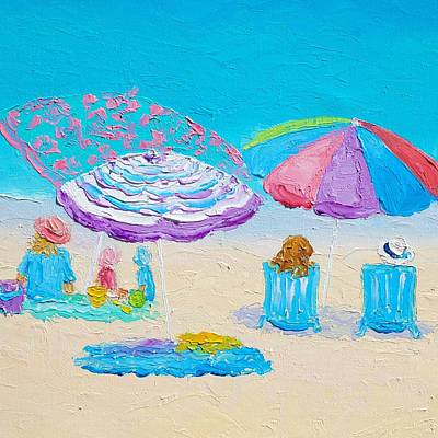 Impressionism Painting - Beach Art - Lazy Summer Day by Jan Matson