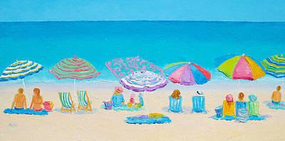 Beach Art Painting - Beach Art - Live By The Sun by Jan Matson