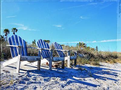 Beach Art - Waiting For Friends - Sharon Cummings Print by Sharon Cummings