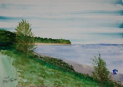 Beach At Flood Bay Lake Superior Original by Troy Thomas