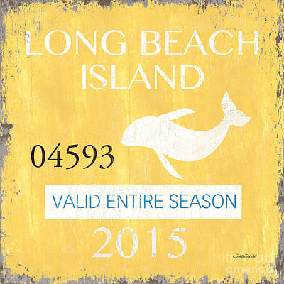 Beach Badge Long Beach Island Print by Debbie DeWitt