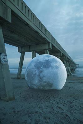 Lunar Digital Art - Beach Ball by Betsy Knapp