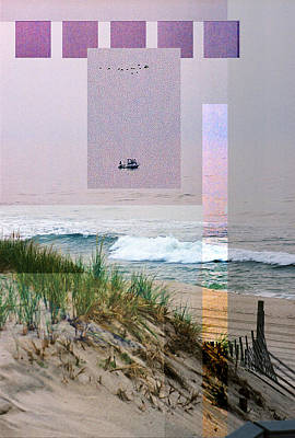 Abstract Beach Landscape Digital Art - Beach Collage 3 by Steve Karol