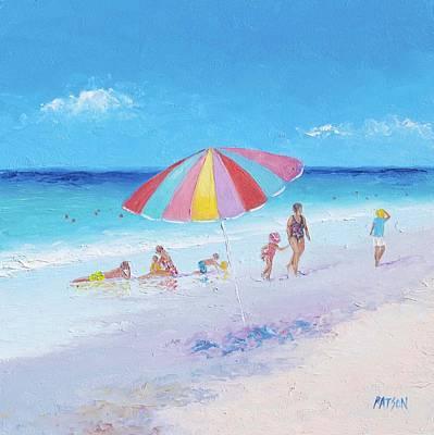 Beach Colors - Beach Decor Print by Jan Matson