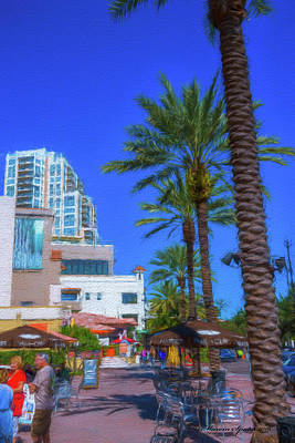 Beach Dr. St. Petersburg Florida Print by Marvin Spates