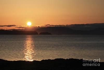 Blue Photograph - Beach Evening by Carolyn Brown