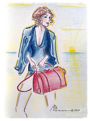 Workaholics Drawing - Beach Exec by Barbara Chase