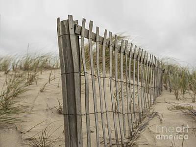 Beach Fence Print by Juli Scalzi